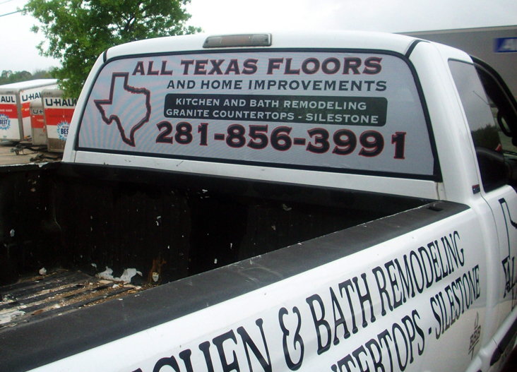 All Texas Floors Window Car