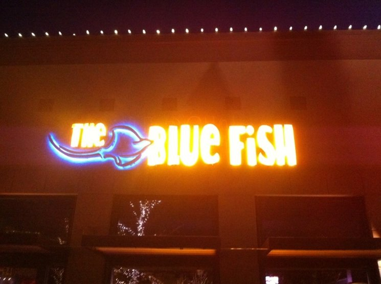 Blue Fish Glowing
