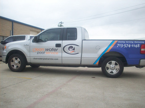Clean Water Pool Service Car
