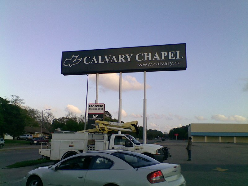 Calvary Chapel Houston Pole Sign